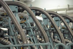 Close up of a main engine