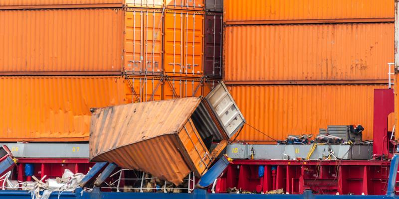 Damage orange container