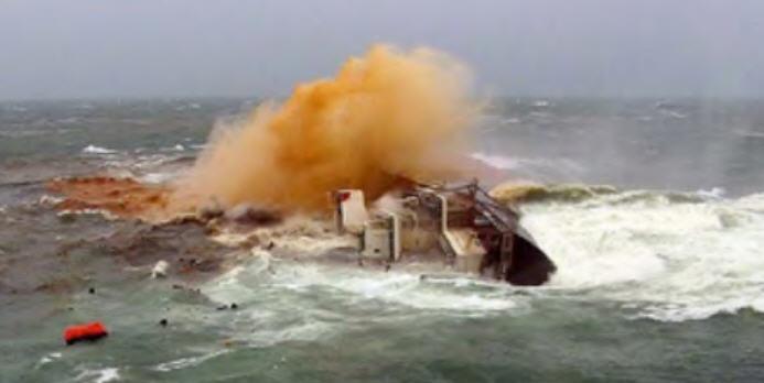 Nickel ore ship sinking