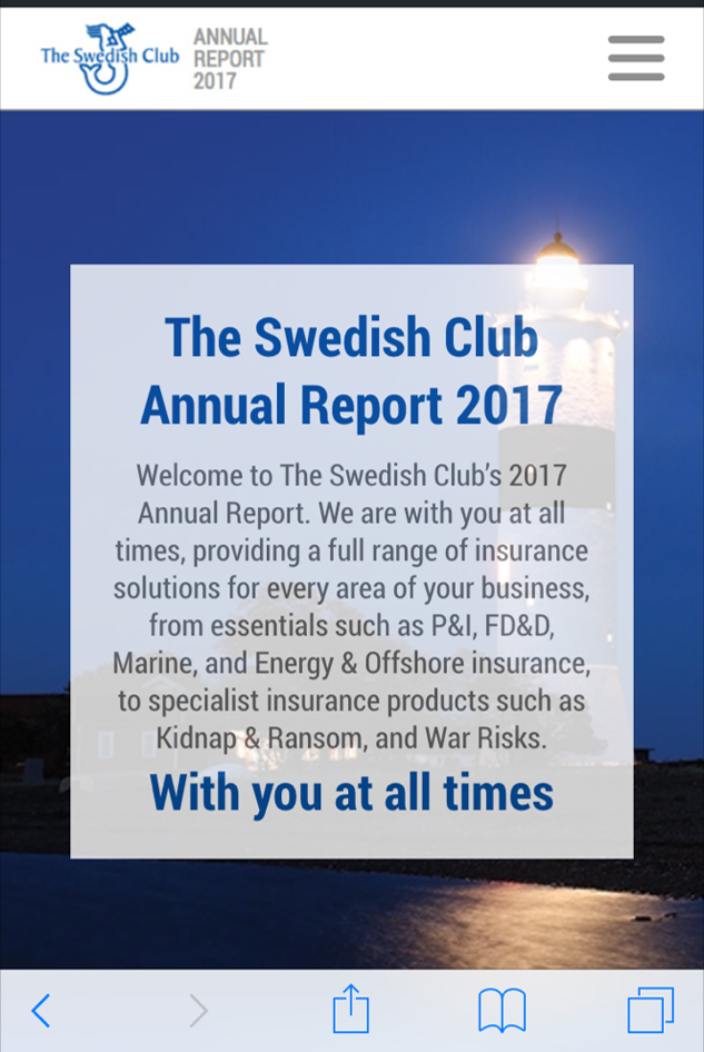 The Swedish Clubs Online Annual Report 2017