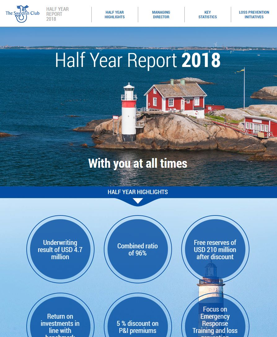 The Swedish Club's Half Year Report 2018 Online