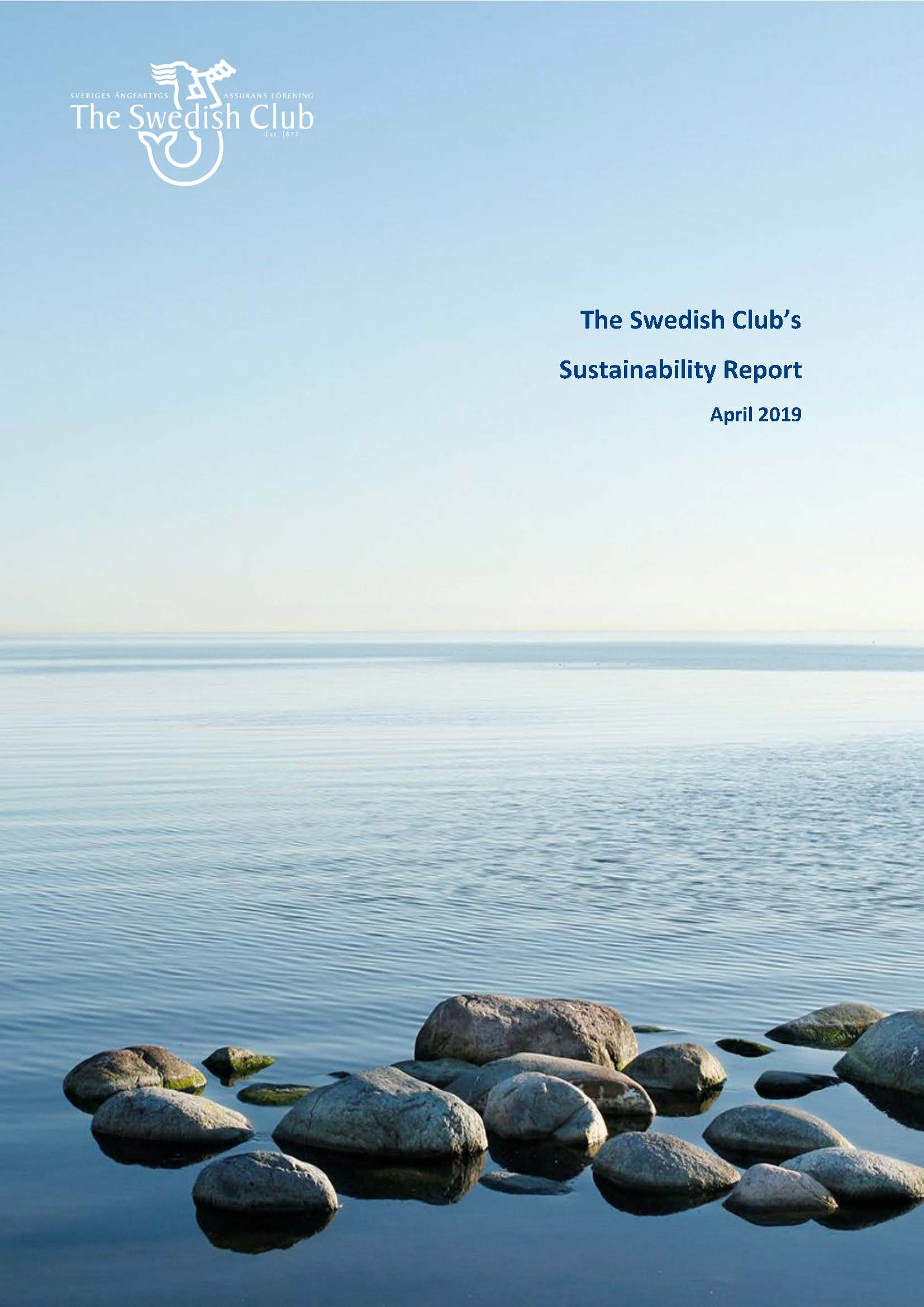 The Swedish Club's Sustainability Report 2019